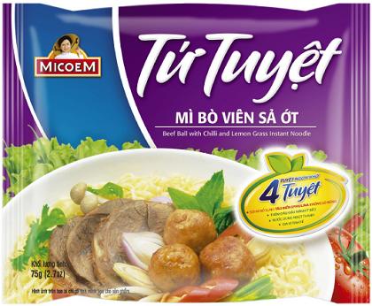 Micoem ra mắt sản phẩm mới- Mì Tứ Tuyệt