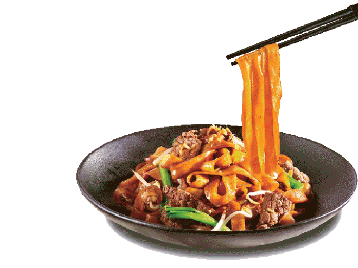 Stir fried rice noodle
