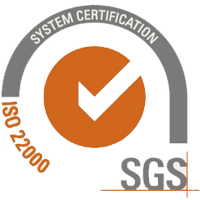 System certification ISO 22000 since October 2015